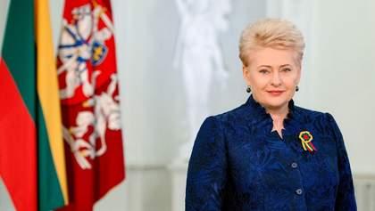 Президент Литви вкотре підтримала Україну