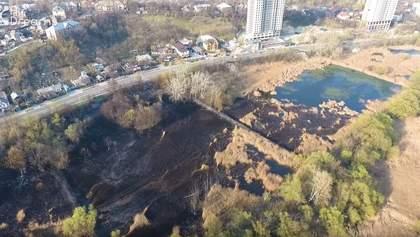 Масштабна пожежа на ставах у Києві: опублікували ефектне відео