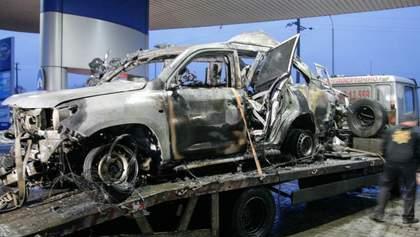 Подрыв авто ОБСЕ: в сети опубликовали жуткие фото машины после взрыва