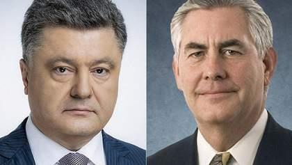 США обнародовали, о чем на самом деле разговаривали Порошенко и Тиллерсон