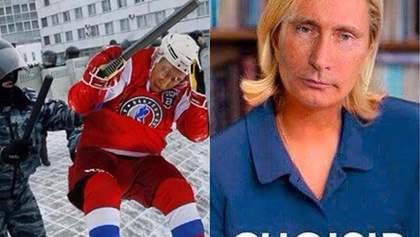 """Самые смешные мемы недели: Путин-хоккеисто-пианист, лузер-Ле Пен и Чичерина с диагнозом """"ЛНР"""""""