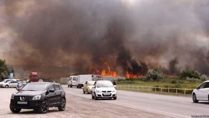 В Крыму вспыхнул масштабный пожар: фото