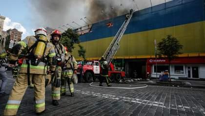 Масштабна пожежа на Хрещатику: рятувальники кажуть, що міг статись вибух