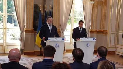 """""""Формула Макрона"""": Порошенко заявив про новий план з деокупації Донбасу"""
