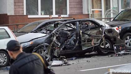 Взрыв машины на Бессарабке: полиция имеет видео с убийцей Махаури