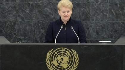 Росія застосовує в Україні методи шантажу, погроз та агресії, – Грібаускайте