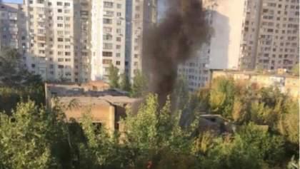 У Києві горить дитячий садок: опублікували фото