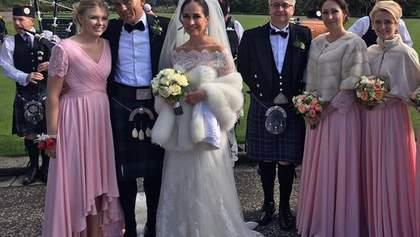 Розкішне весілля в Шотландії: екс-нардеп України вийшла заміж за іноземця