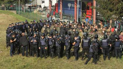"Возвращение Саакашвили: полиция составила протокол на организатора ""титушок"" на границе"