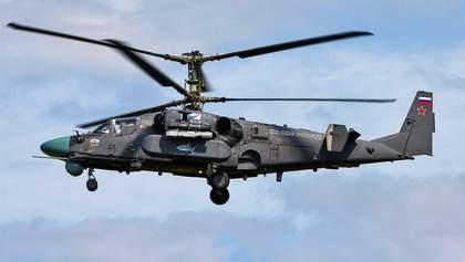 """Російський вертоліт випадково обстріляв склад під час навчань """"Захід-2017"""""""