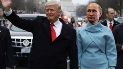 """Найсмішніші меми тижня: Трамп торкнувся Путіна,  Шкіряка """"побили"""" і пасажири, що штовхають поїзд"""