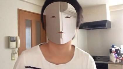"""Японец создал """"маску-невидимку"""", чтобы проверить iPhone X: видео"""