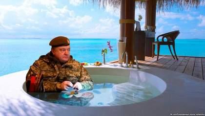 Роскошный отдых Порошенко на Мальдивах – это ... Ваше мнение