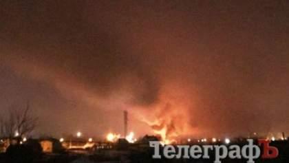 В Кременчуге вертолет врезался в телевышку и загорелся, есть жертвы