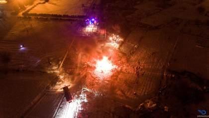 Аварию вертолета в Кременчуге показали с высоты птичьего полета: фото и видео
