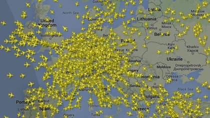 Из Борисполя вылетел неопознанный самолет