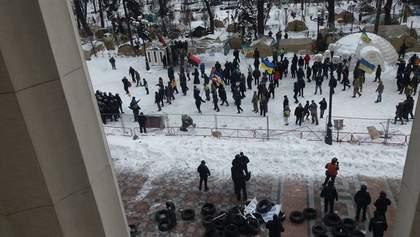 Столкновения возле Верховной Рады: появилось видео