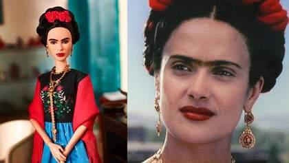 Сальма Хайек раскритиковала куклу Барби в образе Фриды Кало: фотосравнение