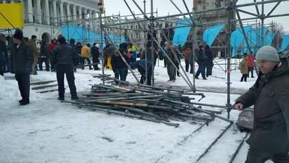 Ублюдки і варвари, – Шкіряк про самовільний демонтаж активістами конструкцій на Майдані у Києві