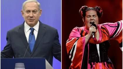 Прем'єр Ізраїлю кумедним жестом відреагував на перемогу Нетти на Євробаченні 2018: відео