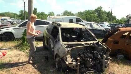 Поджог авто в центре Киева: пострадавшая связывает с местью ОСМД