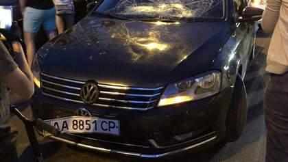 ДТП с кортежем Порошенко и ребенком в Киеве: фото первых минут после аварии