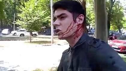 В Одесі напали з ножем на місцевого активіста Устименка: фото і відео