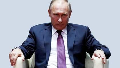 """""""Пряму лінію"""" Путіна висміяли в карикатурі"""