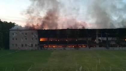 Назвали імовірну причину пожежі у спорткомплексі Міноборони у Львові