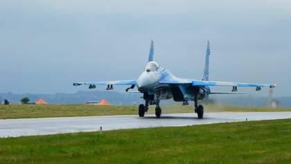 З'явилося ефектне відео польоту українського винищувача у рамках престижного авіашоу