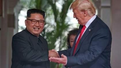 Суть зустрічі Трампа з Кім Чен Ином показали в дотепних карикатурах