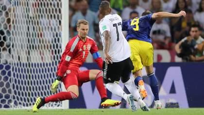 Германия – Швеция: видео голов и моментов матча