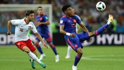 Сборная Польши уступила Колумбии и вылетела с Чемпионата мира