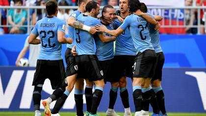 Уругвай впевнено переміг Росію на  Чемпіонаті світу