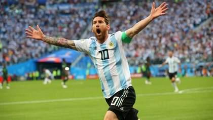 Аргентина в напряженном матче победила Нигерию и вышла в плей-офф Чемпионата мира