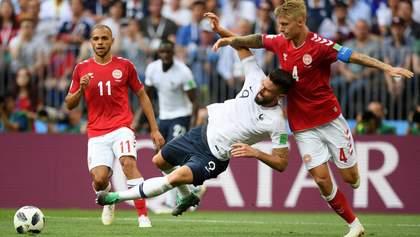 Франция и Дания сыграли первую нулевую ничью на Чемпионате мира