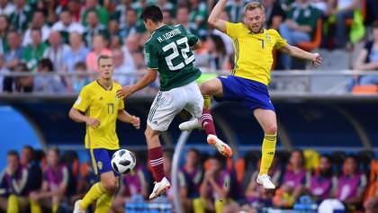 Мексика – Швеція: відео голів та моментів матчу Чемпіонату світу