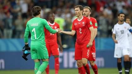 Швейцария сыграла вничью с Коста-Рикой, вратарь забил в свои ворота на последней минуте