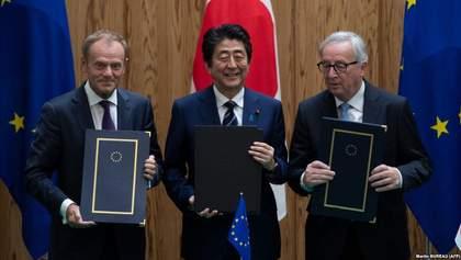 Японія та ЄС підписали угоду, яка створює найбільшу у світі відкриту економічну зону