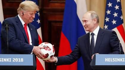 В мяче, который Путин подарил Трампу, нашли чип