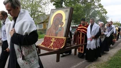 """Жиденький """"Крестный ход"""" Московского патриархата или просто грандиозное фиаско"""