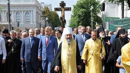 Хто з політиків засвітився на хресній ході від Московського патріархату: промовисті фото