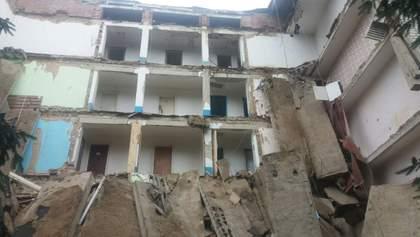 На Житомирщині обвалився студентський гуртожиток: шокуючі фото