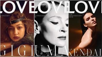 Известные супермодели снялись для юбилейной обложки Love Magazine: фото
