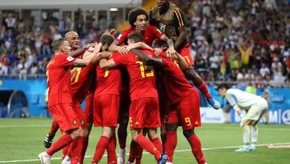 Бельгия победила Японию в напряженном матче и вышла в четвертьфинал