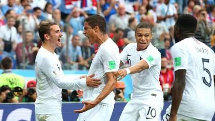 Франция обыграла Уругвай и вышла в полуфинал Чемпионата мира