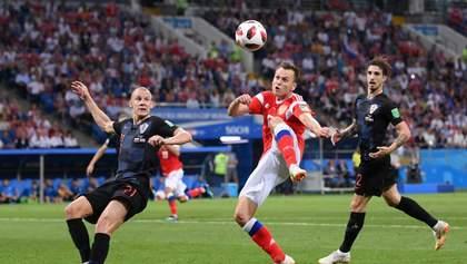 Хорватія перемогла Росію у серії післяматчевих пенальті на Чемпіонаті світу