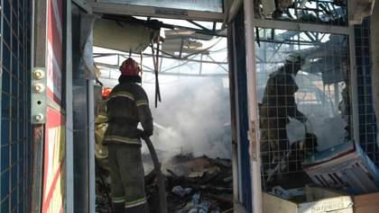 У Слов'янську масштабна пожежа охопила ринок: фото і відео