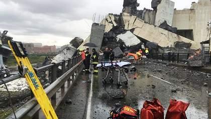Обвал моста в Италии: погибли по меньшей мере 20 человек
