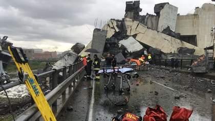 Страшна катастрофа в Генуї: шансів знайти поранених дуже мало